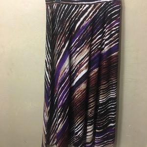 89th & Madison Multicolored striped maxi skirt